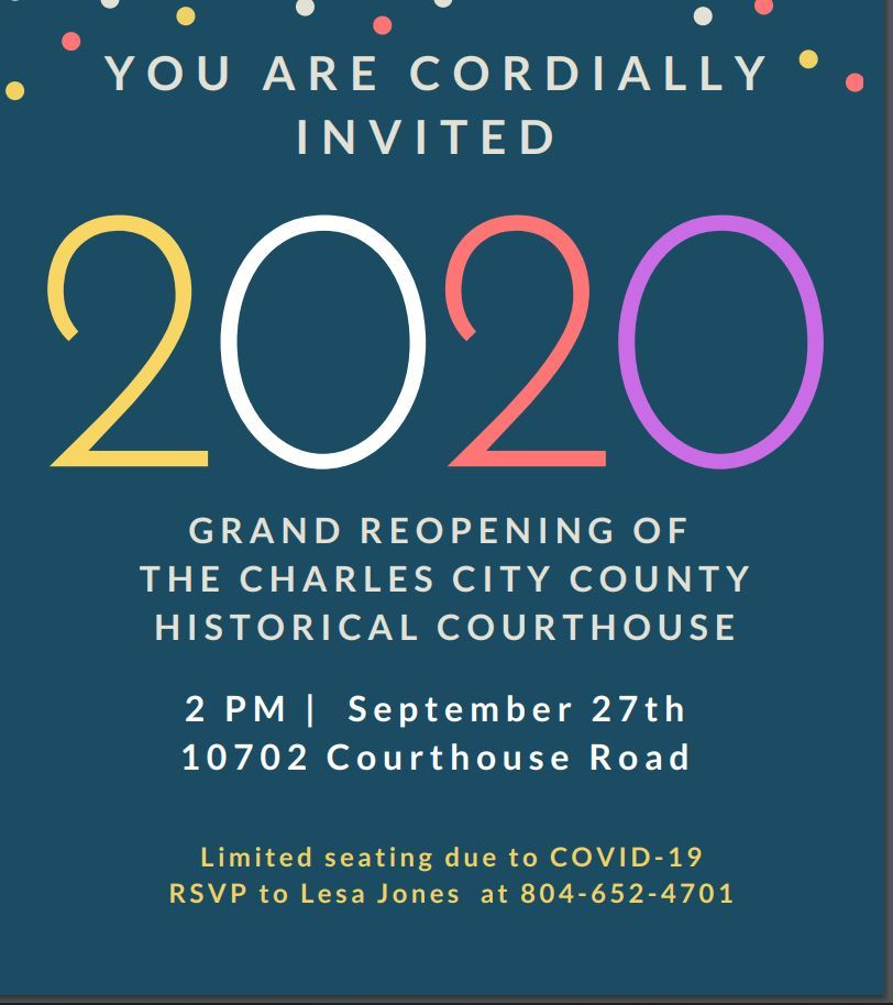 GRAND rE-OPENING FOR COURTHOUSE
