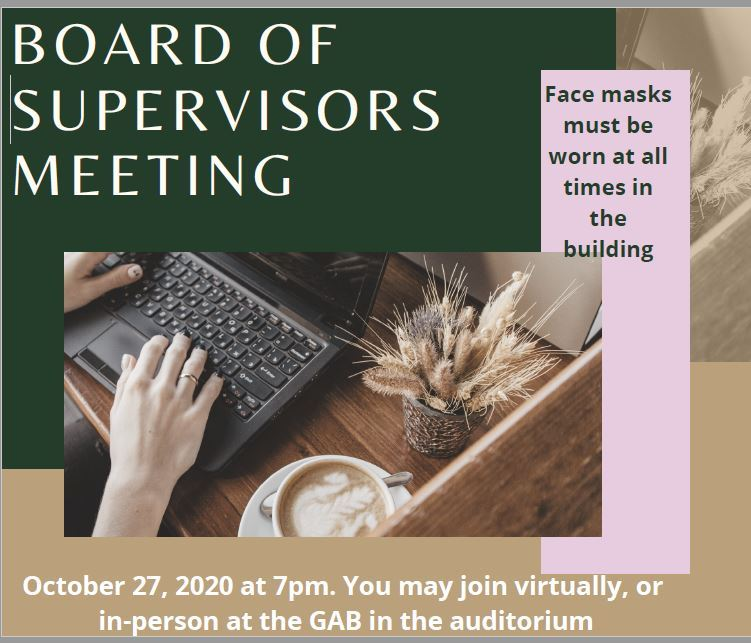 October BOS meeting with links