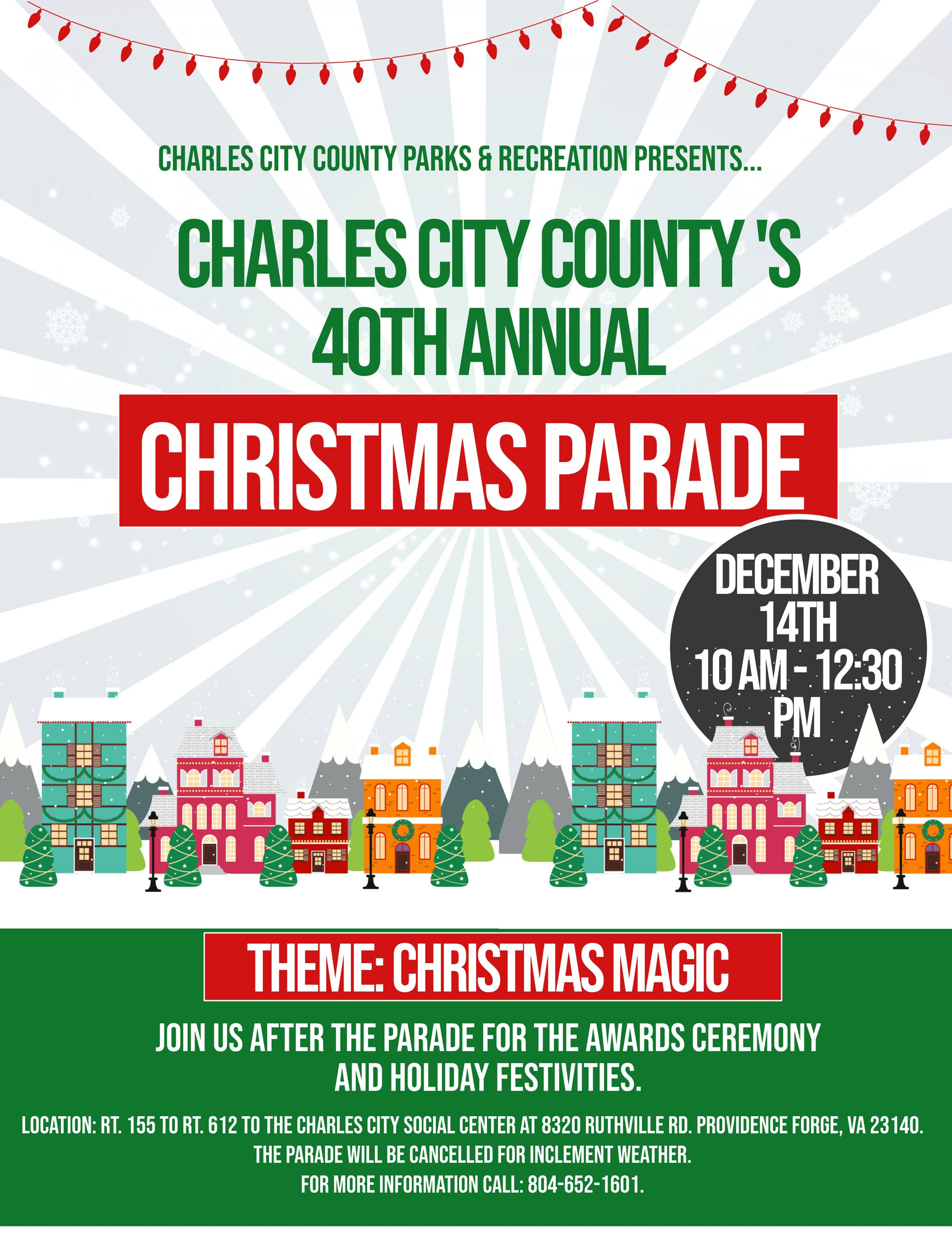2019 Christmas Parade flyer